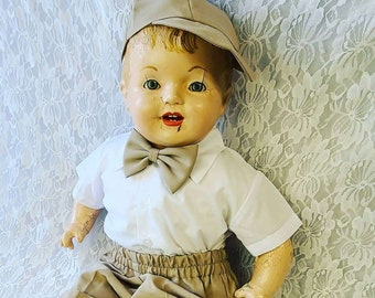 """No Reserves Jonathan Haunted Doll ~ HUGE 28"""" Compo Baby 1930s ~ Paranormal ~ Highly Active Child Spirit ~ Abused ~ Murdered ~ Needs LOVE"""