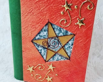 Unique Secret Stash Book ~ Trinket Box ~ Wiccan ~ Pagan ~ Paper Mache Faux Book ~ Stash Book ~ OOAK Box