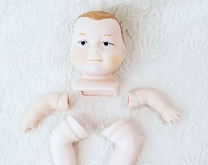 """Porcelain Doll Making Set for 14-16"""" Sleeping Baby Doll ~ Arms, Legs and Head ONLY ~ DIY Doll Making ~ Doll Parts ~ Boy Baby"""