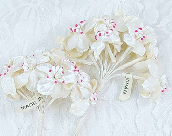 One (1) Bunch of Antique Chenille Millinery Flower Bunches ~ Made in Japan ~ Mid Century Supplies