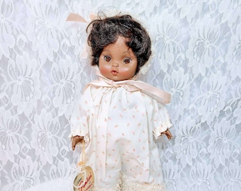 "Effanbee Punkin' ~ 11"" African American Girl ~ Rare ~ Historic item ~ MINT Condition ~ No Box ~ Original Tags"