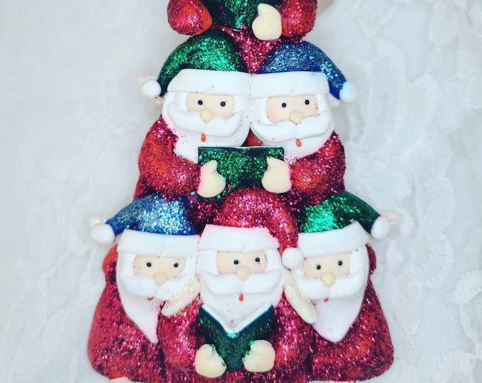 Handmade OOAK Christmas Caroling Santa Ornament ~ Rustic Christmas ~ Holiday Décor ~ Christmas Ornament