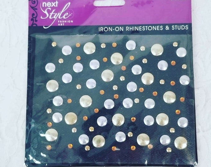 Next Style Fashion Art Iron-on Rhinestones and Studs ~ New Sealed ~ Silver and Gold