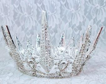 Beautiful Queen of Winter Princess Tiara ~ Witch Fae Crown - 16th Birthday Party - Prom Tiara ~ Halloween ~ Wedding ~ Ren Faire ~ LARP