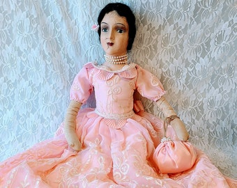 """No Reserves Sophronia Haunted Doll ~ 28"""" Antique Composition Boudoir ~ Paranormal ~ HIGHLY Active ~ Electronics ~ Sensuality ~ Erotic Dreams"""