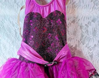 Vintage Authentic Weissman Pageant Dance Costume Leotard Size XSC ~ Beautiful ~ Mint Condition
