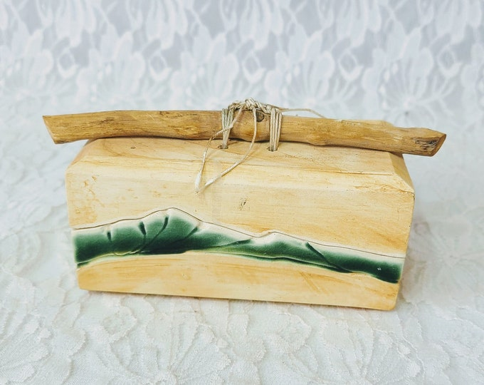 Unique Wilderness Style Handmade Ceramic Box ~ Lidded ~ Trinket Box ~ Container ~ Signed by Artist
