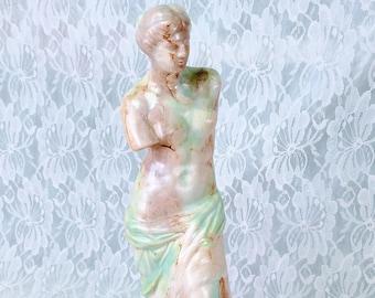 Vintage Goddess Aphrodite as Venus de Milo Woman Female Greek Roman Goddess Figurine Statue ~ Altar Piece