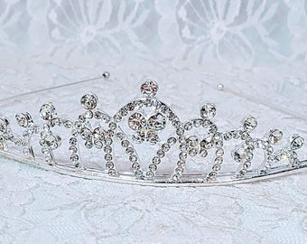 Traditional Pageant Tiara Headband ~ Winter Witch ~ Fae Crown - 16th Birthday Party - Prom Tiara ~ Halloween ~ Wedding ~ Ren Faire ~ LARP