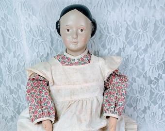 "No Reserves Arleta Haunted Doll ~ Repro Primitive Cloth 20"" Doll ~ Paranormal ~ Weird Eyes ~ Judgmental ~ Uncomfortable ~ Amish Woman"