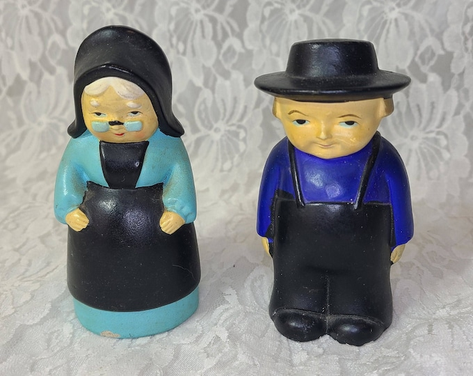 Vintage 1950s MCM Collectible Brinn's Amish Couple Salt and Pepper Shaker Made in Japan
