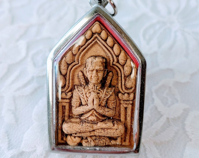 Mystical Blessed Thai Buddha Amulet Talisman for Health ~ Kuman Thong MONEY MAGNET ~ Ancient Terracotta Buddha Buddhist ~ WEIRD Must Read