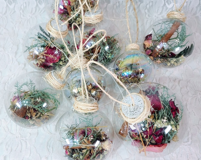 No Reserves Witches Ball Home Protection Sphere Spell Jars ~ Lavender, Heather, Cinnamon, Salt and MORE ~ Hang in your Eastern Window