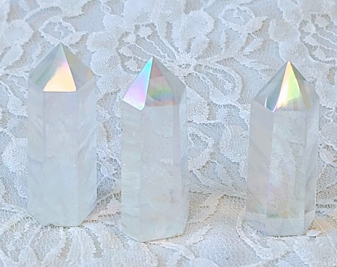 Titanium Angel Aura Quartz Crystal POINT Tower ~ The Stone of Universal Light ~ Crystal Grid ~ Healing Crystal ~ Reiki