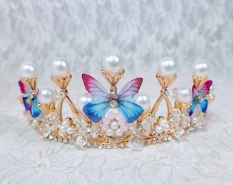 Fairy Princess Tiara ~ Faerie Witch Spring Fae Crown - 16th Birthday Party - Prom Tiara ~ Halloween ~ Wedding ~ Ren Faire ~ LARP