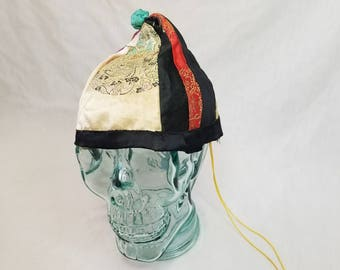 Vintage Chinn's Chinatown San Francisco Traditional Chinese Thinking Cap ~ 1940s Real Silk ~ Label Inside Hat