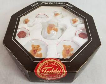 Reutter Porzellan ~ Miniature Tea Set ~ Hermann Bear ~ Small Childs Tea Set ~ Collectible Tea Set ~ Doll Size ~ Dollhouse Miniature