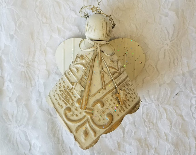 Metal Repurposed Cut Tin Doll Angel Wall Hanging ~ Angel Art ~ Home Decor ~ Mothers Day Gift