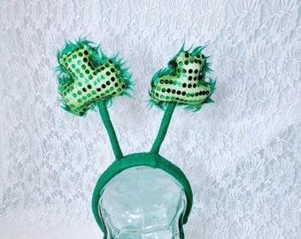 Wear Green!  Felt Leprechaun Costume Headband ~ Saint Patrick's Day ~ Four Leaf Clover Headband