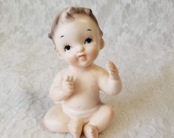 Vintage 1950s Bisque Boy Figurine Piano Baby ~Kelvin's Exclusives RARE Figurine~ Baby Boy Figurine ~ Piano Baby ~ Japan