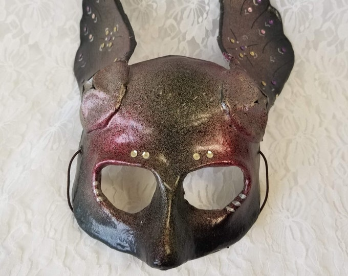 Vintage Commedia dell'arte Winged Paper Mache Venetian Italian Mask ~ Costume Halloween or Wall Decor