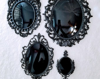 No Reserves Amazing Black Glass Scrying Mirrors ~ Consecrated on Friday the 13th, during the Full Harvest Moon ~ Divination Tool