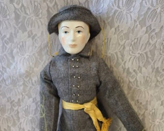 """No Reserves Charles Haunted Doll ~ Handmade 21"""" Union """"Federal Soldier"""" in the Civil War ~ Felt Costume ~ Paranormal ~ Active"""