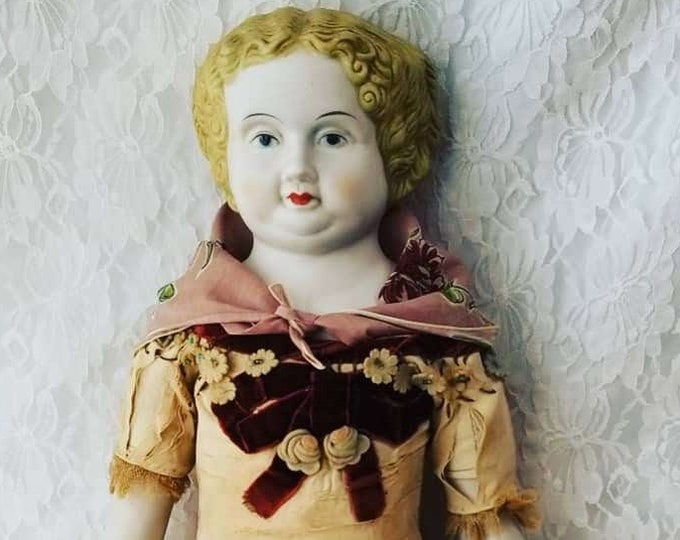 """No Reserves Kirsa Haunted Doll ~ VERY OLD Antique Bisque Parian China Doll 24""""~ Paranormal ~ Berlin ~ Guardian ~ Motherly ~ Protective"""