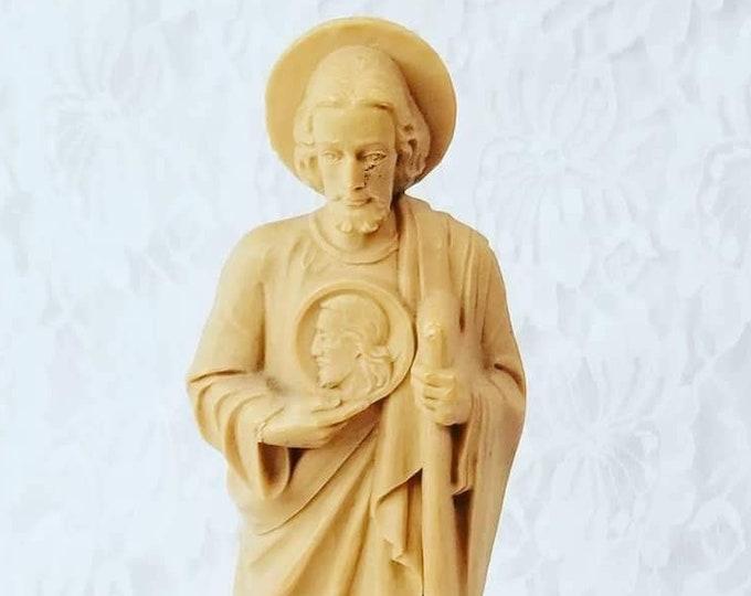 "St. Jude Catholic 8"" Patron Saint Figure w/Image of Edessa Medallion ~ Patron Saint of Lost Causes and Illness"