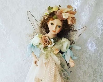 Amazing Porcelain Fairy Doll Lamp ~ Brand New w/Tags and Original Box ~ Beautiful ~ Works ~ Comes with Extra Bulb