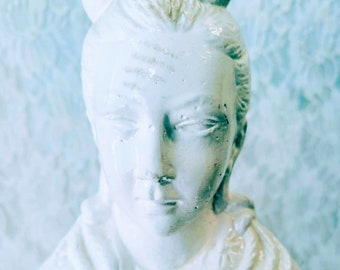 """Amazing Porcelain 22"""" Statue ~ Guanyin Kwan-yin Bodhisattva Statue ~ Goddess Guanyin the Goddess of Mercy and Compassion SOLD As-Is"""
