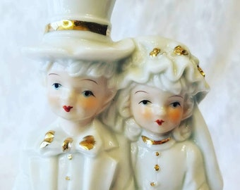 Antique 1950's Bride and Groom Figurine ~ Wedding Cake Topper ~ Daniel Gift's ~ Great Condition ~ Couple Gift ~ Anniversary