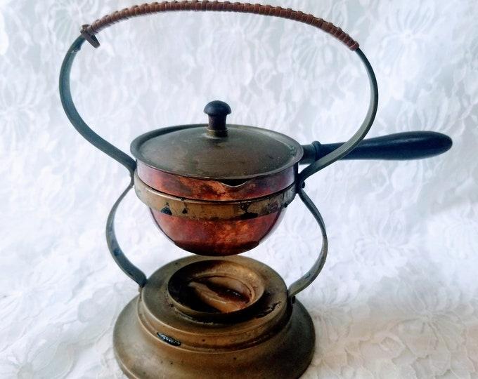 Antique Turkish Metal Brass Copper Incense Burner Censer ~ Covered Vessel~ Wiccan ~ Copper Brass Coffee Maker? Burner?