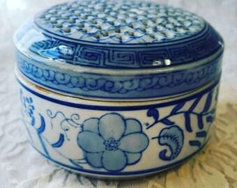 Vintage Porcelain Censer - Incense Burner - Cauldron - Herb Burning Device ~ Wiccan Supply ~ Altar Supplies