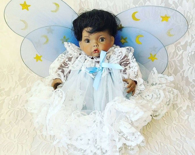 "No Reserves Aubrey Haunted Doll ~ African American 9"" ~ Paranormal ~ Angelic Energy ~ Hospice Care, End-Of-Life Care ~ Ascended Angel"