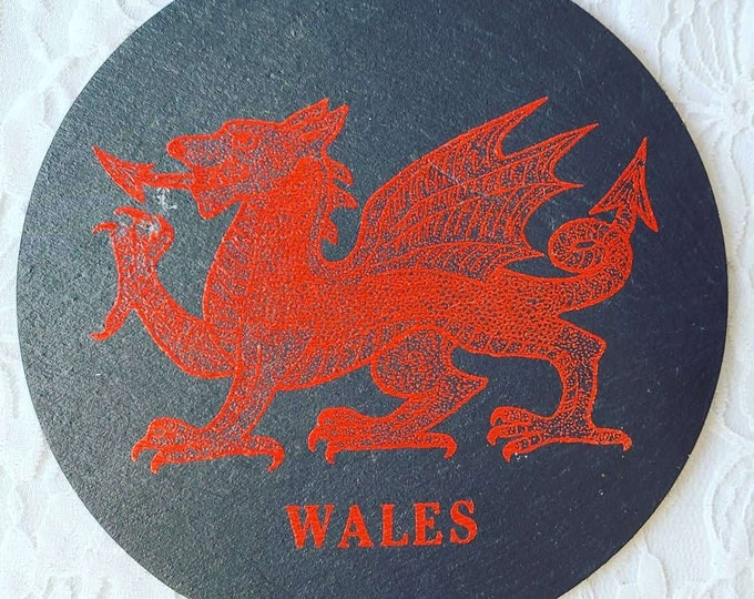 Slate Circle ~ Decorative Dragon ~ Wales ~ 500 Year Old Slate Circle ~ Snowdonia Craft Center ~ Souvenir of Wales
