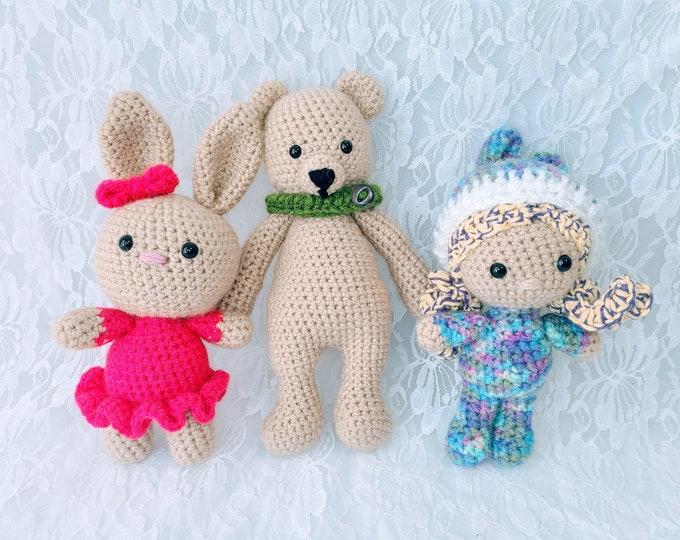Amazing Amigurumi Choose your Animal! Handmade Crochet Bear or Bunny!