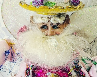 """RETIRED Limited Edition Mark Roberts Boutique Christmas Elf Doll Holiday Decor 12"""" Figurine Yuletide Collectible Ornament"""