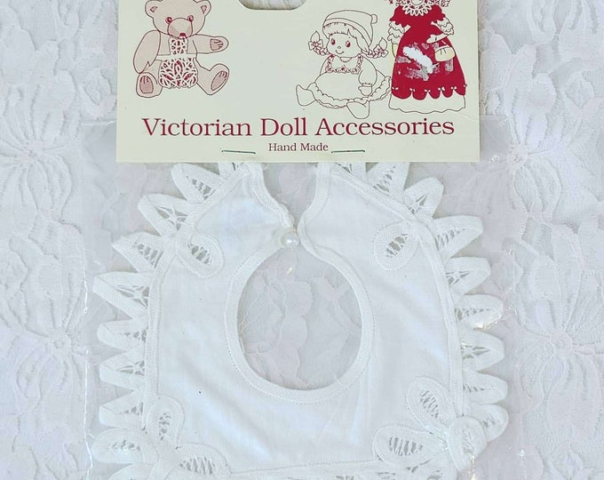 """Cute Lace Victorian Doll Collar ~ Fits on 14-18"""" Composition or Baby Dolls ~ In Original Packaging"""
