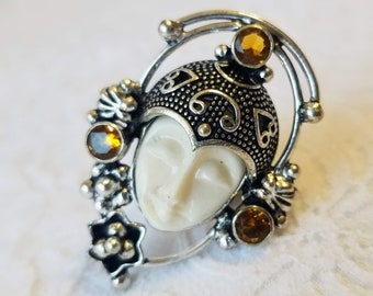 ONLY ONE LEFT! Enchanted Moon Goddess Rings ~ Spellcraft ~ Witchcraft ~ Lady Luna Blessing ~ Goddess Protection ~ Georgia Coven