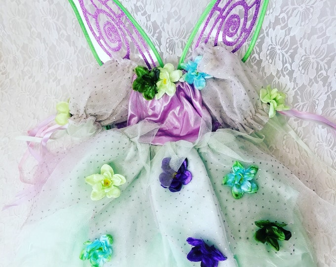 Toddler Flower Fairy Costume for Halloween ~ Rubie's Costumes ~  Child or Large Doll Costume LARP Cosplay or Just for Fun