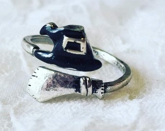 Witch Rings ~ Adjustable Size! ~ Blessed with Pagan Rites ~ Goddess Hecate ~ Guardian of Witches and the Craft ~ FREE SHIPPING USA