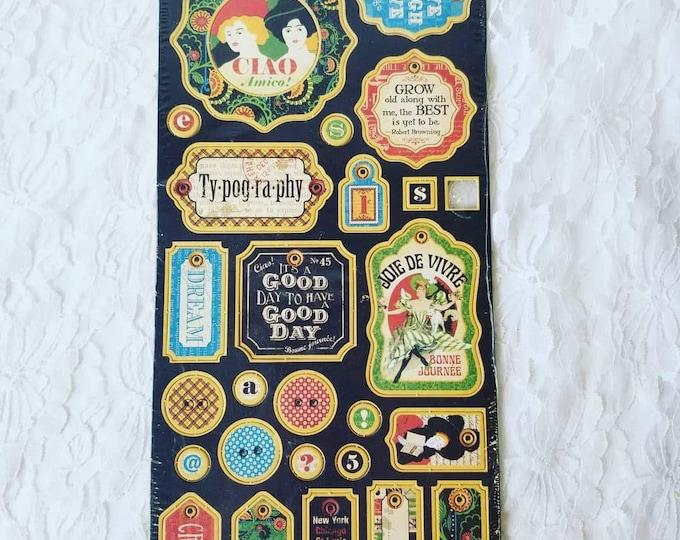 Graphic 45 Heavy Chipboard Die Cut Pop Outs ~ Belle Epoque ~ Vintage Europe ~ Paris, France ~ Scrapbooking Supplies