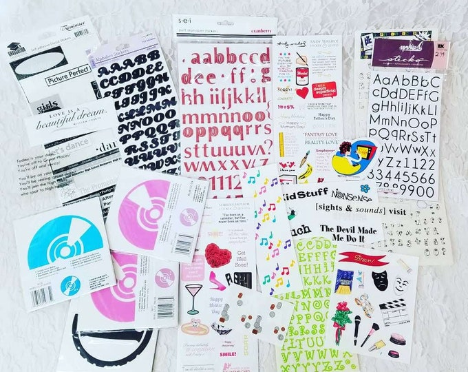 Lot of Stickers ~ TONS ~ Scrapbooking Supplies for Paper Crafts, Card-making, Scrapbooks ~ Marilyn Monroe & Andy Warhol Quotes