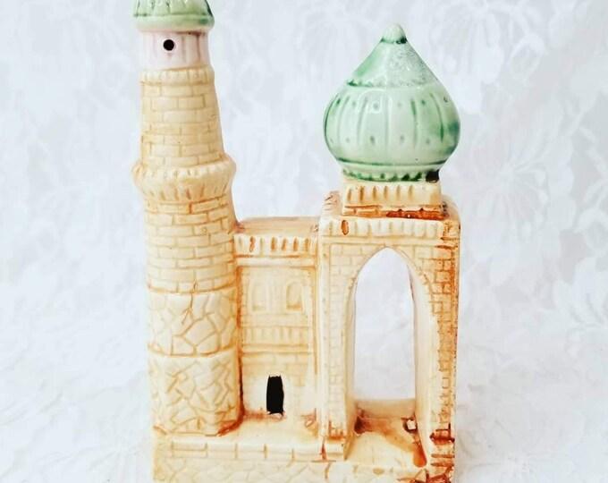 Ceramic Hand Painted Mosque Art Church Temple Souvenir ~ Miniature Replica Building ~ Middle Eastern Architecture