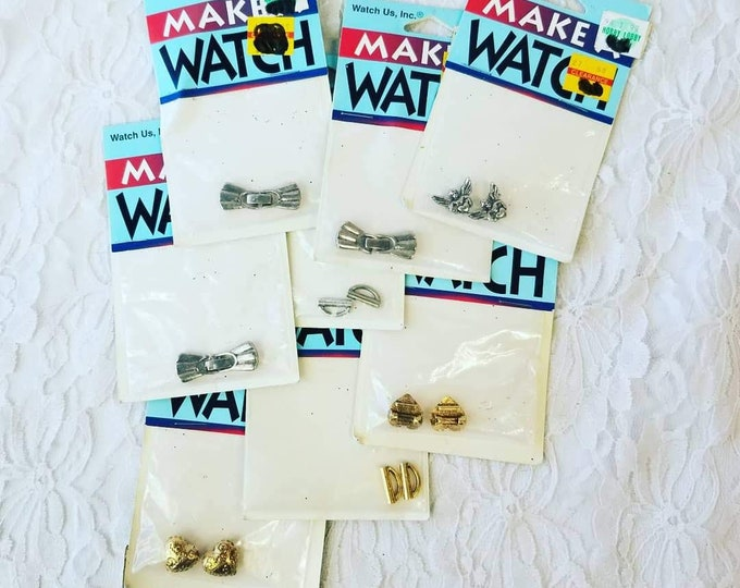 Clearance Lot of Watch Making Jewelry Making Supplies ~ Seven (7) Brand New Packs of Stuff ~ Make a Watch brand