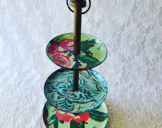 Metal Jewelry Tier Stand ~ Pedestal Candy Stand ~ Perfect for Crystal Display ~ Jewelry Stand ~ 3 Tiered Stand ~ Tiered Display