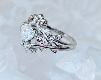 Sterling Silver Skull Ring with Cubic Zirconia ~ Gift for Best Friends ~ Sterling Silver Stamped 925 ~ Comes in Gift Box