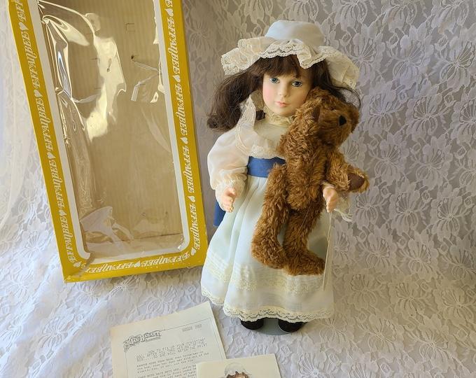 "Vintage Effanbee RARE 16"" Vinyl Doll ~ 1983 Jen Hagara's Cristina ~ Original Box and Tag with COA"