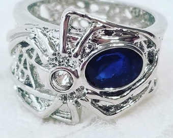 ALMOST GONE! Goddess Athena Enchanted Spider 1.68 Ct Sapphire Rings ~ New Magick 2/19/19 ~ Athena, the Spinner of Fate, Creatrix of Destiny